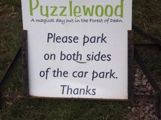Puzzlewood car park