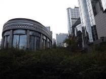a view of th European Parliament