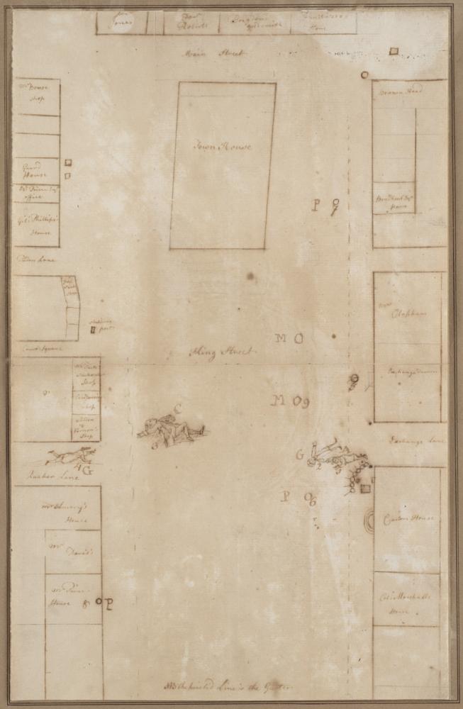 Image result for historic map revere boston massacre