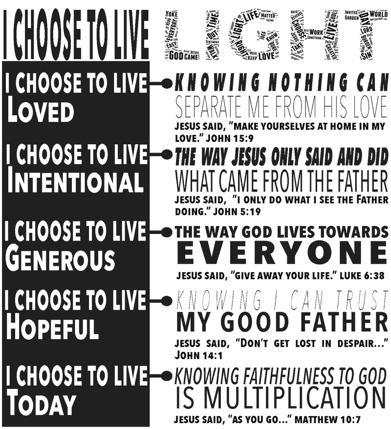 choose to live light