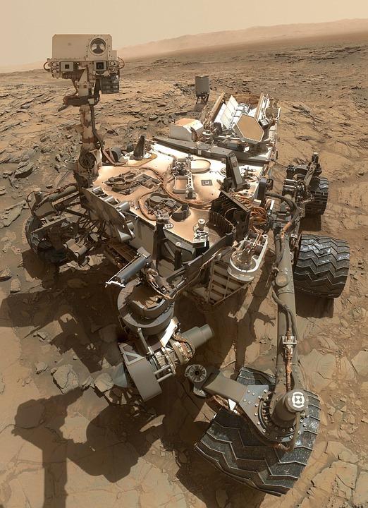 L'exploration de Mars par le robot Curiosity.