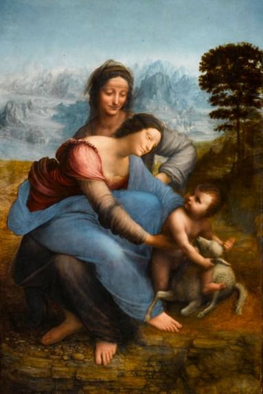 Léonard de Vinci, Vierge à l'Enfant avec sainte Anne