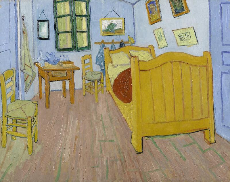 """Le tableau """"La Chambre"""" peint en 1888 par Vincent Van Gogh."""