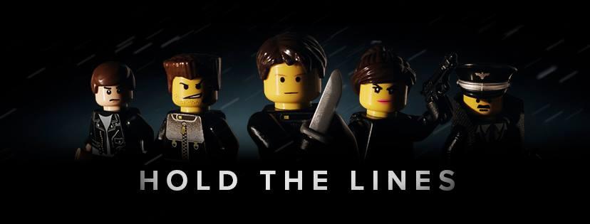 affiche de Hold The Lines : operation cobra avec les légos, personnages principaux