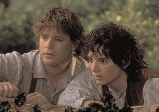 Sam et Frodon dans le film du seigneur des Anneaux, proches, trop proches ?