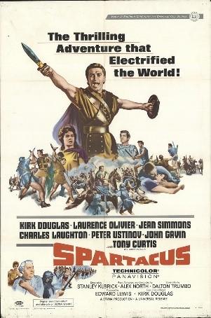 Affiche officielle du film Spartacus de Stanley Kubrick 1960