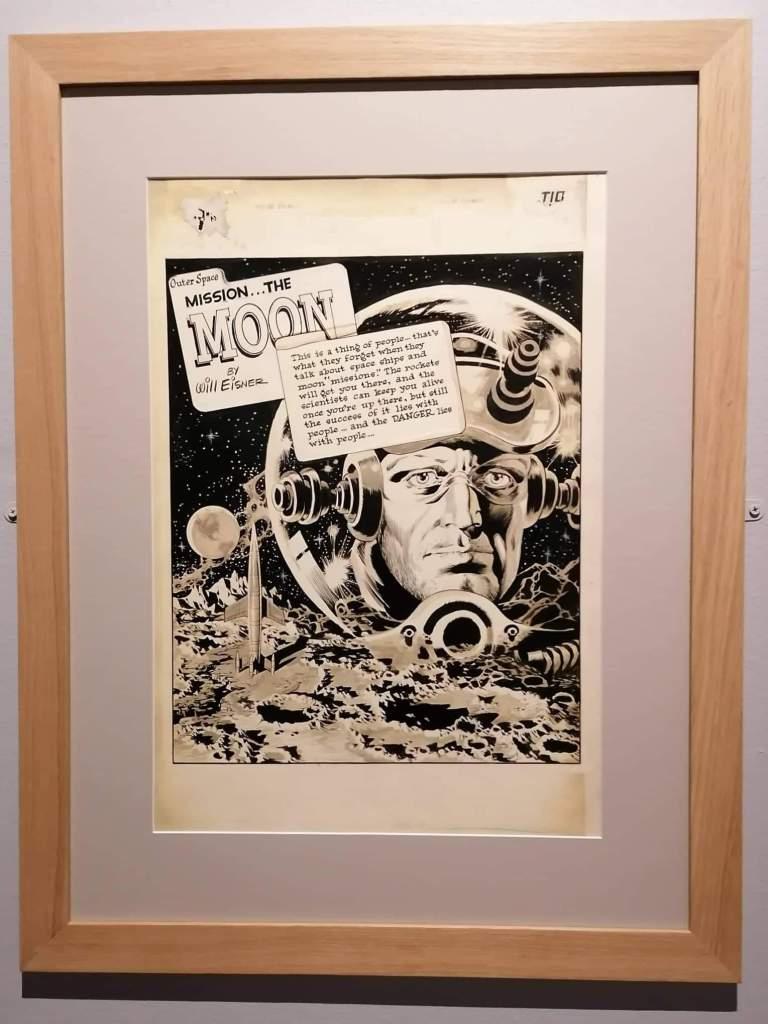 """Planche de Will Eisner """"The Moon"""""""