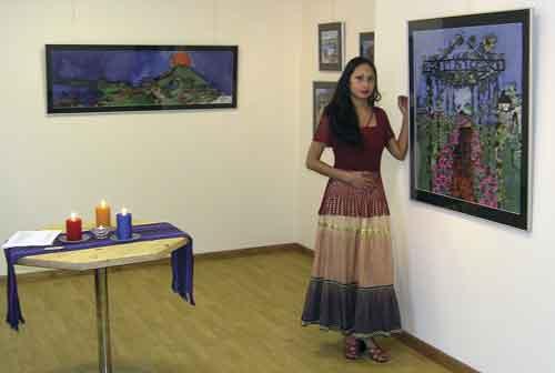 Violeta Marroquín at exhibition