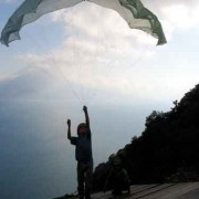 Flying a kite in Lake Atitlán (photo: Victoria Stone)