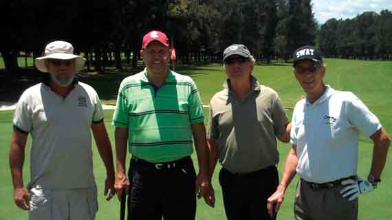 Second place team: (l-r) Bill Harriss, Carl Bloomfield, John Biskovich, Brian Wilson