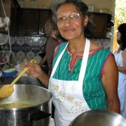 Asmena Pankanea creating a meal (photo by Dianne Carofino)