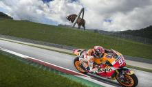 cool Red Bull statue behind Marc