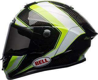 Bell Race Star Full-Face Gloss White Hi-Viz Green Sector Motorcycle Helmet