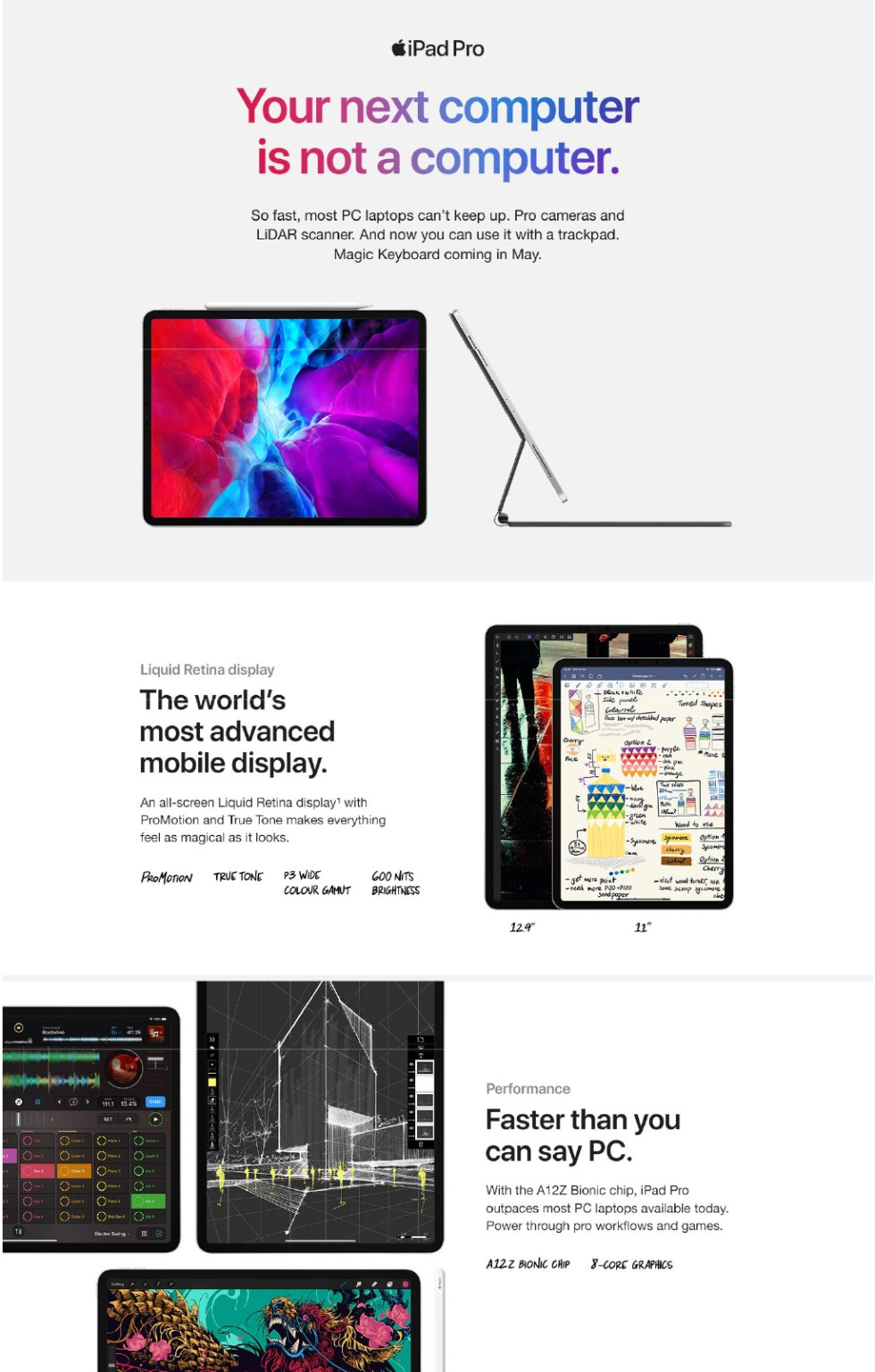 iPad Pro 2020 product Features 1
