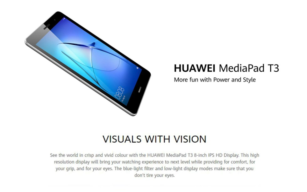 Huawei MediaPad T3 Product Features
