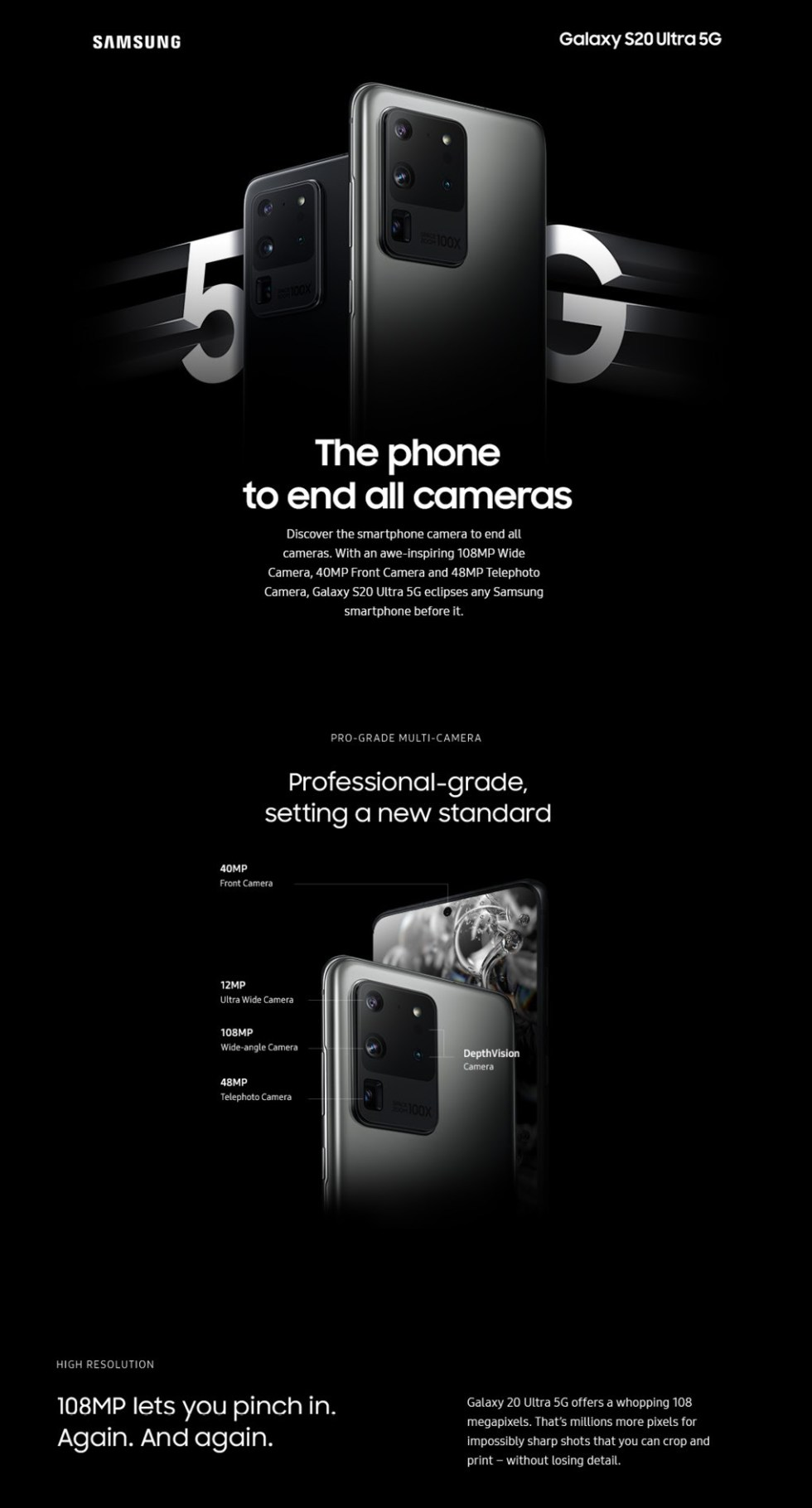 Samsung Galaxy S20 Ultra 5G Features