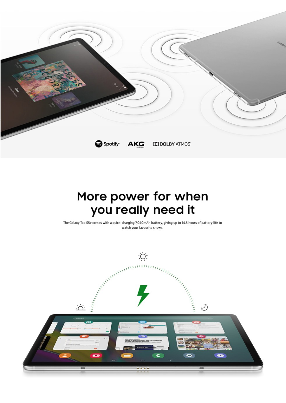 Samsung Galaxy Tab S5e Product Features