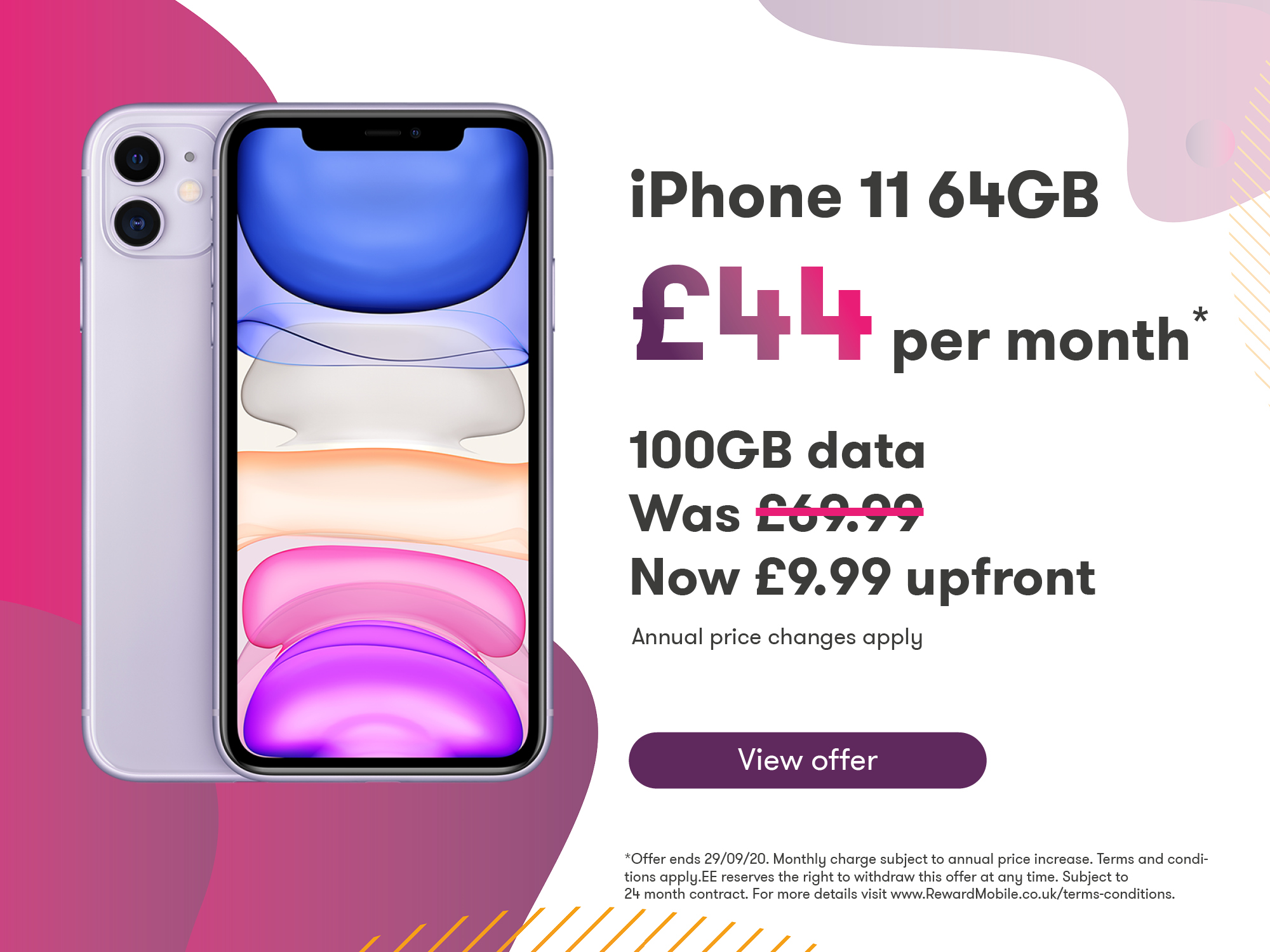 iPhone 11 Offer 44 9.99 Upfront
