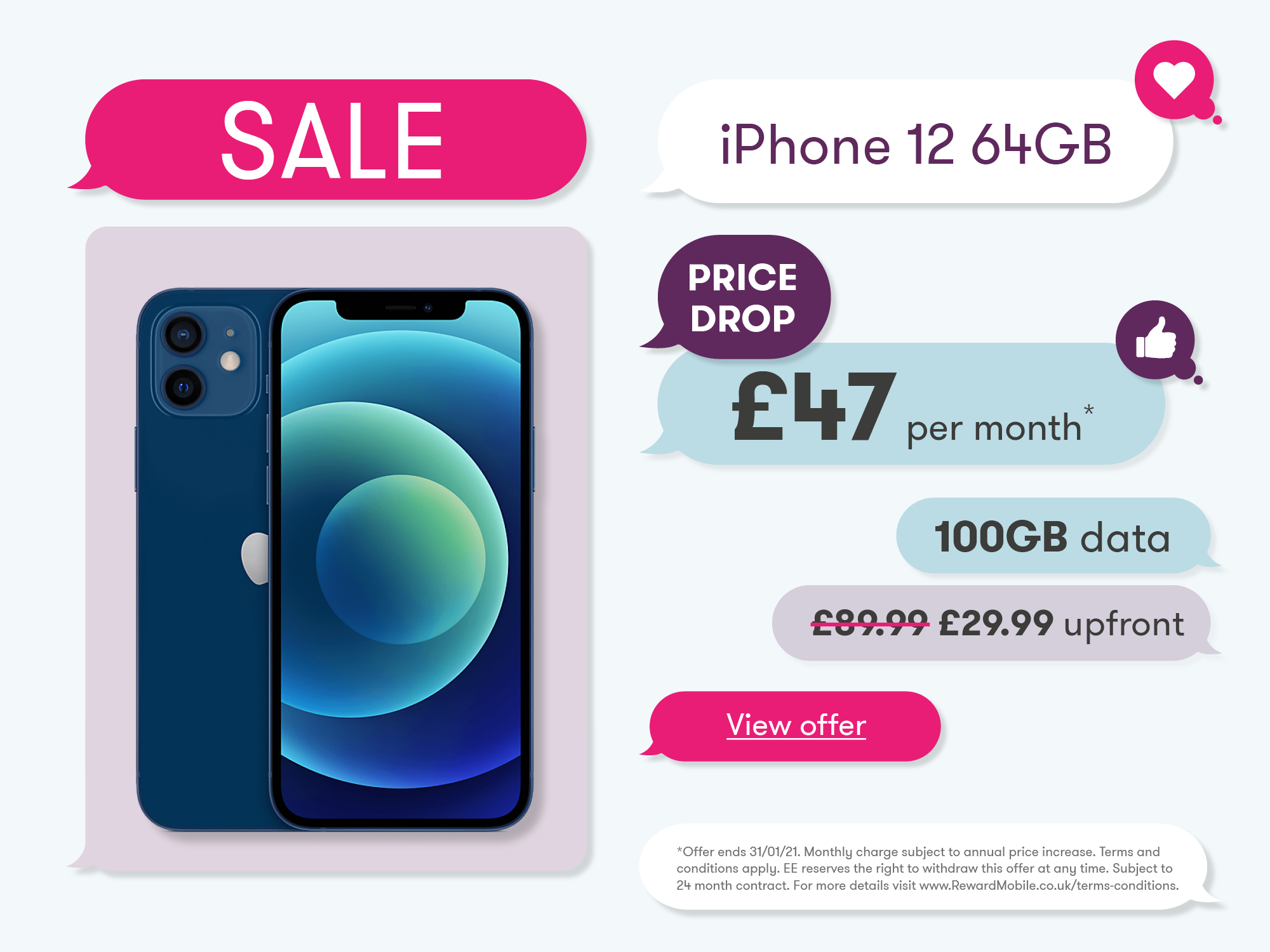 iPhone 12 January Sale Offer Banner