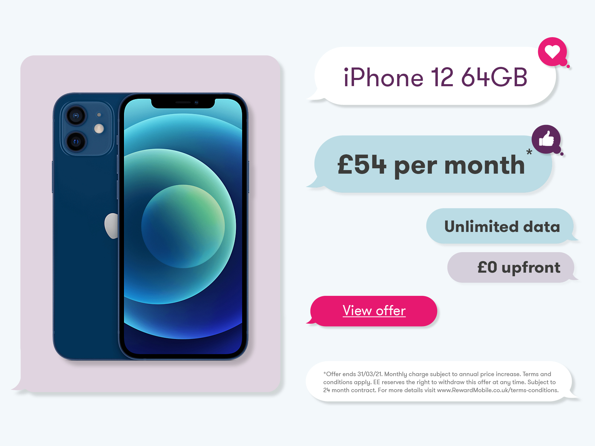 iPhone 12 Banner Offer March