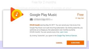 Free 4 Months of Google Play Music + Youtube Red | Rewards & Credit