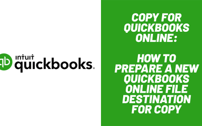 How to Prepare a new QuickBooks Online Destination File for Copy