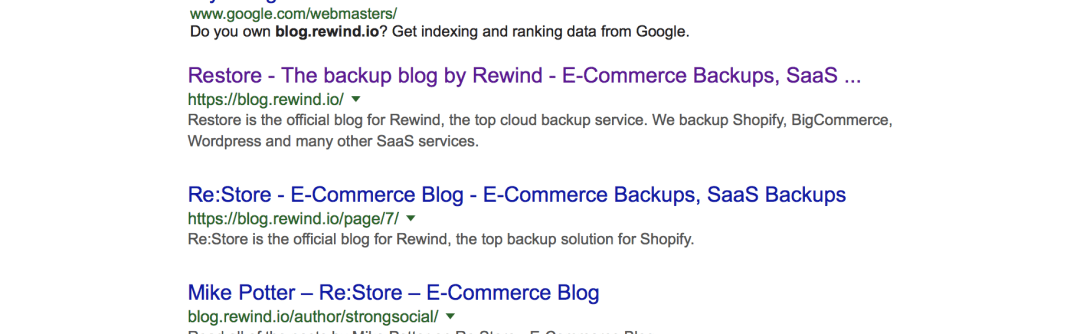 google site: search example