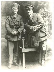 Arthur dykes and a friend in uniform
