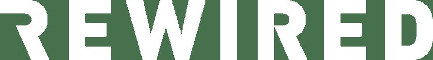 Rewired logo white