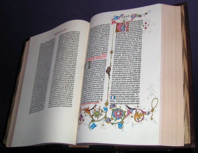 Gutenberg bible copy