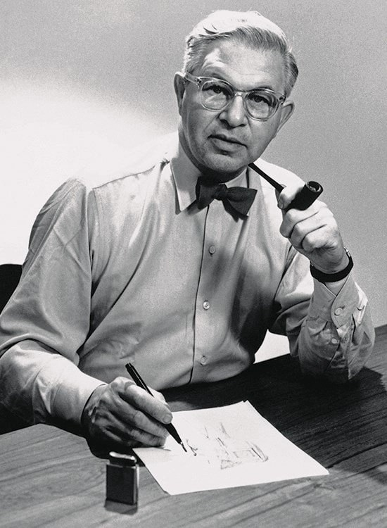 portrait of Arne Jacobsen