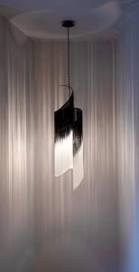 fringed pendant lamp by Ann Demeulemeester