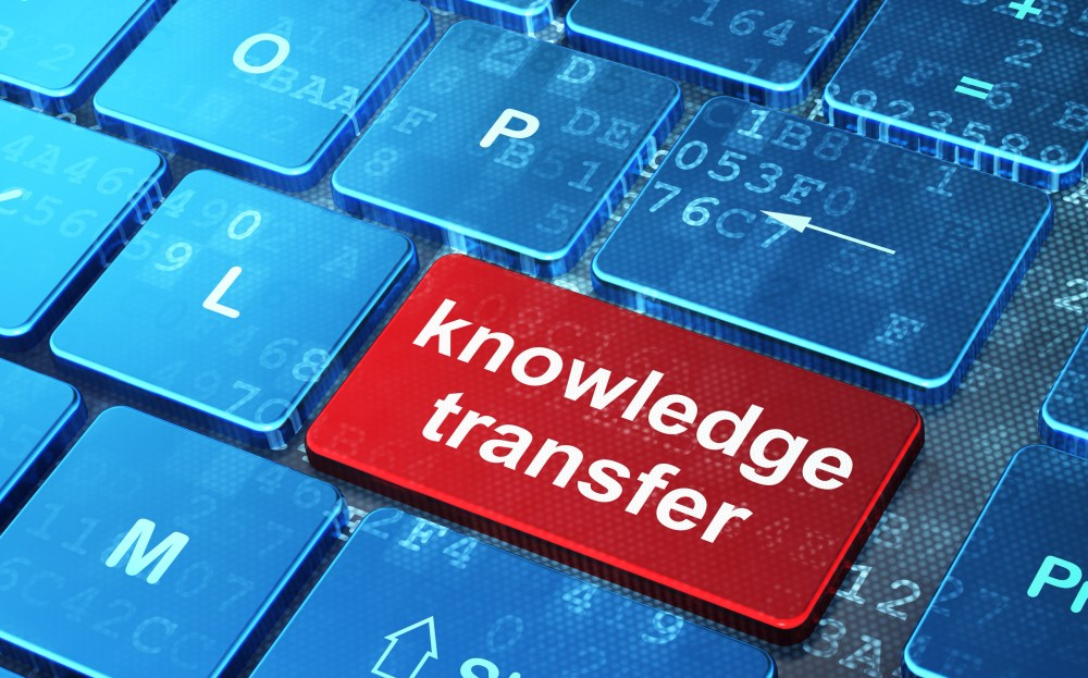 Knowledge transfer stock image
