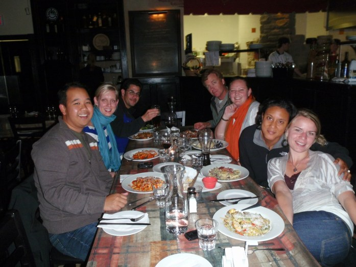 Dinner out with SKWID classmates