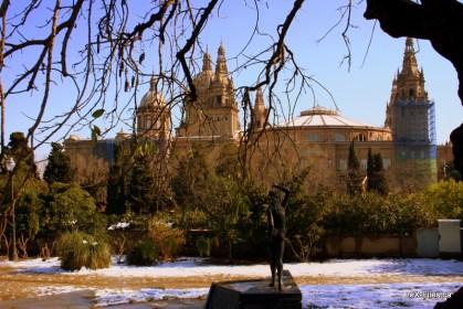 Snow in Barcelona