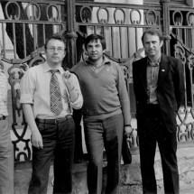 Є. Кудінов, Г. Мелков, В. Талалаєвський, Б. Журиленко. Семінар по спінових хвилях (Санкт-Петербург), 1984 р.