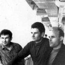 Л. Стахурський, Ю. Нечипорук, В. Запорожець, на Всесоюзній конференціїї по магнетизму (круїз на пароплаві по р. Єнісей), 1970 р.