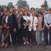 О. Нечипорук та випускники кафедри 1996 р.