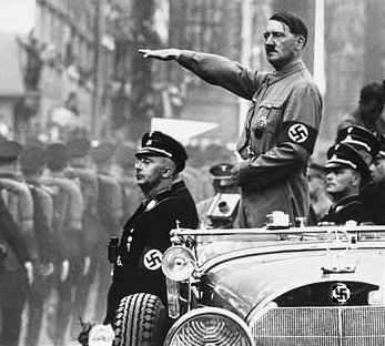 Adolf Hitler in Krit Motor Car? With Swastika / Hakenkreuz