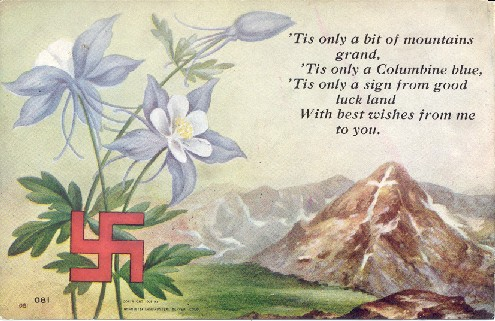 1908 postcard, using the Indian swastika