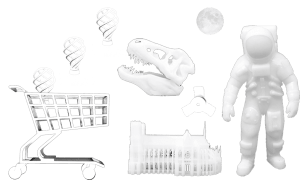 Examples of 3D printed items