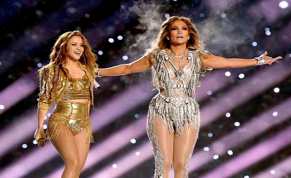 Jennifer Lopez and Shakira Super Bowl Halftime
