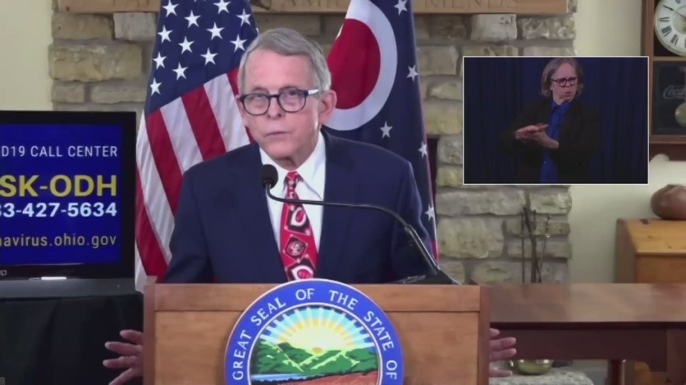 Gov. DeWine discusses COVID-19 vaccination plans, possibility of fans at Indians