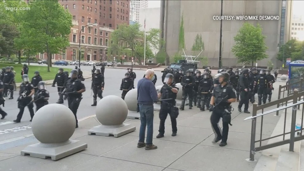 75-year-old protester and former Cleveland resident files lawsuit against City of Buffalo and police officers