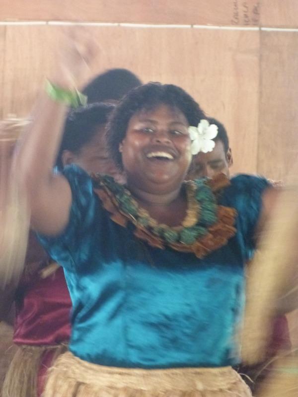 Happy fijian woman