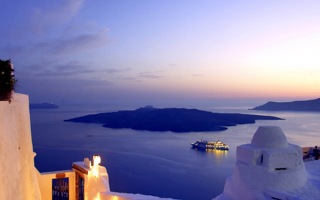 Love's Young Dream in Santorini