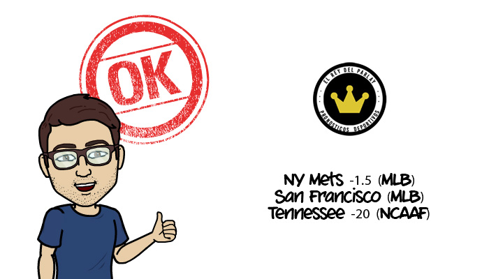 1-9-2016 |Parlay gratis MLB + Fútbol Americano (NCCAF)
