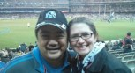 Robin and I at a footy game!