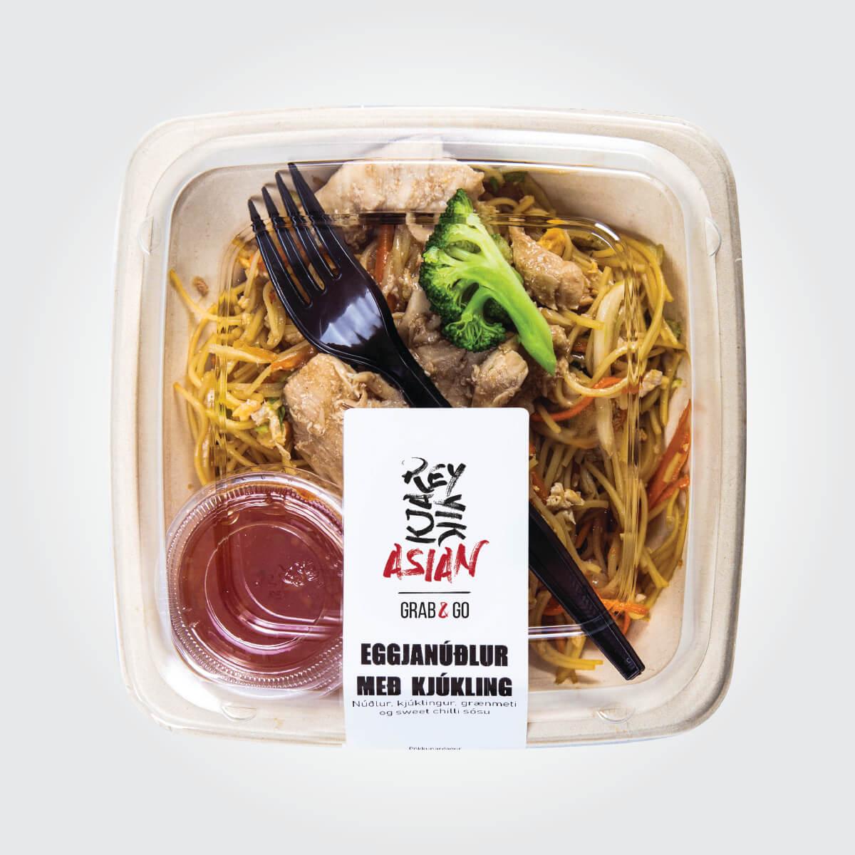 Eggjanúðlur með kjúklingi - Reykjavík Asian