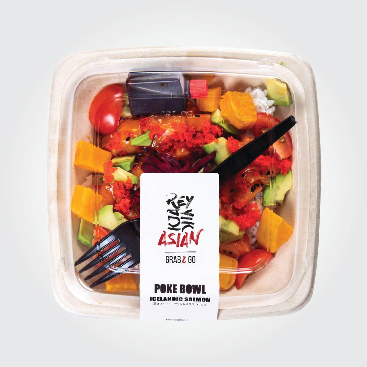 Poke bowl - Salmon - Reykjavík Asian